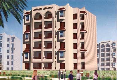 ب الرحاب شقة 127 م2 بحري وغربي للايجار مفروش كود 5276